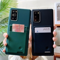 Funda con ranura para tarjetas para Samsung Galaxy S21 S20 Ultra S10 5G S9 S8 Plus S10E S10 Lite S20 FE, funda de silicona con billetera