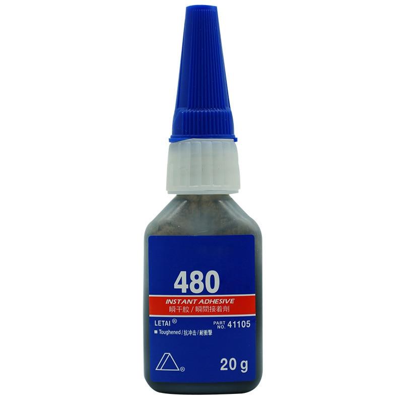 1 Pcs 20g 480 Super Glue Metal Plastic Rubber Tire Seal Rubber Ceramic Black Special Quick-drying Gl