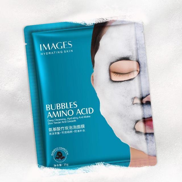1 Pc Oxygen Bubble Sheet Mask Moisturizing Bamboo Charcoal Black Face Mask Whitening Skin Care
