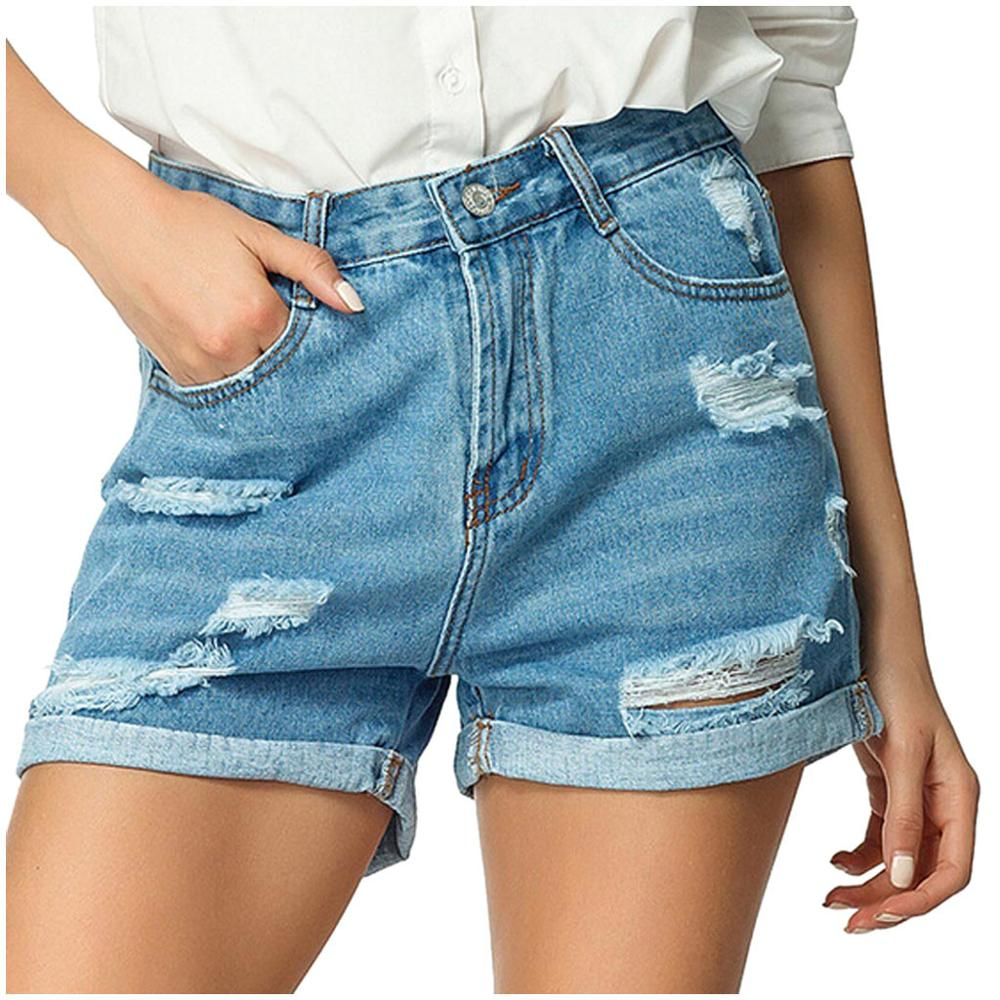 Fashion High Waisted Jean Shorts Lace Plus Size Rope Tie Shorts Yoga Sport Pants Leggings Trousers