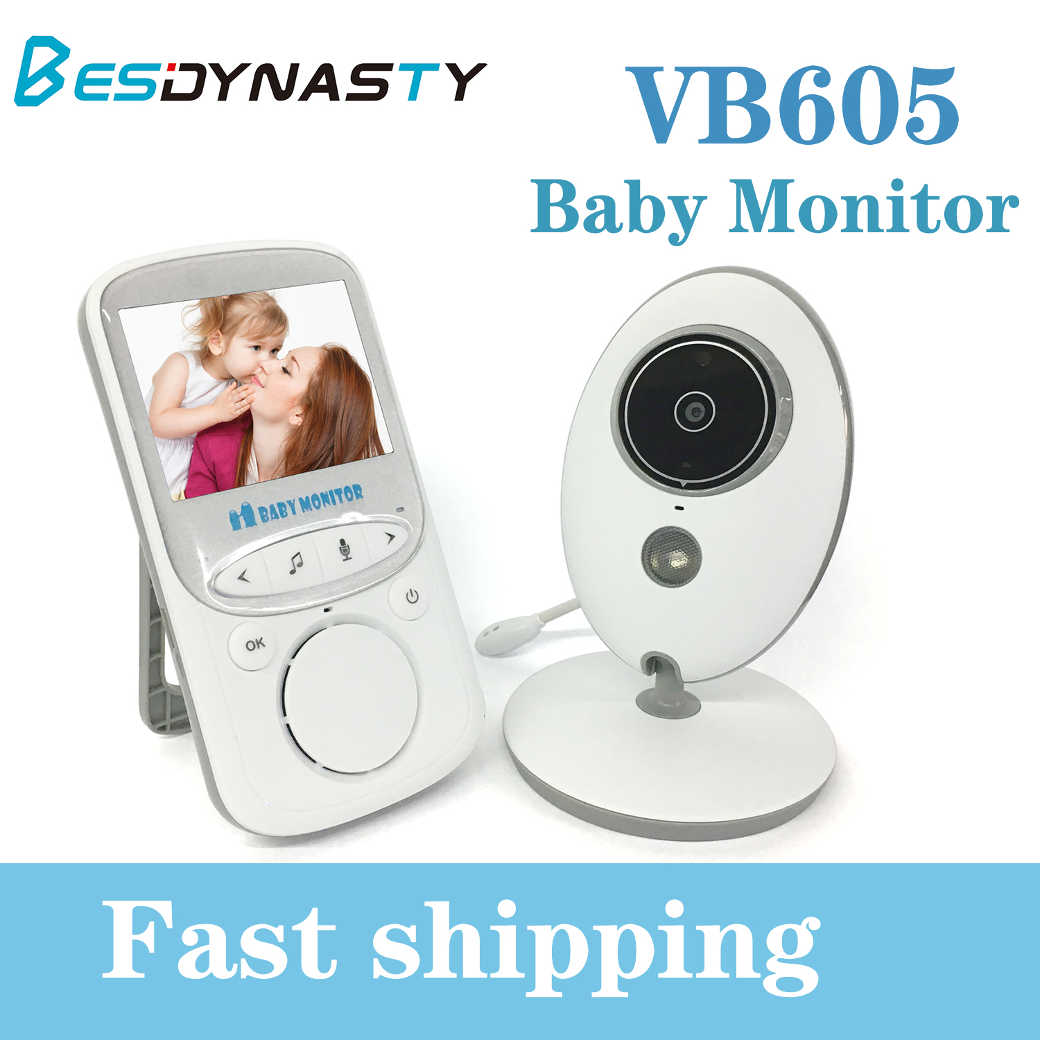 VB605 Portable 2.4 Inch LCD Wireless Baby Monitor Video Radio Nanny Camera Intercom IR Bebe Cam Walkie Talk Babysitter LCD Audio