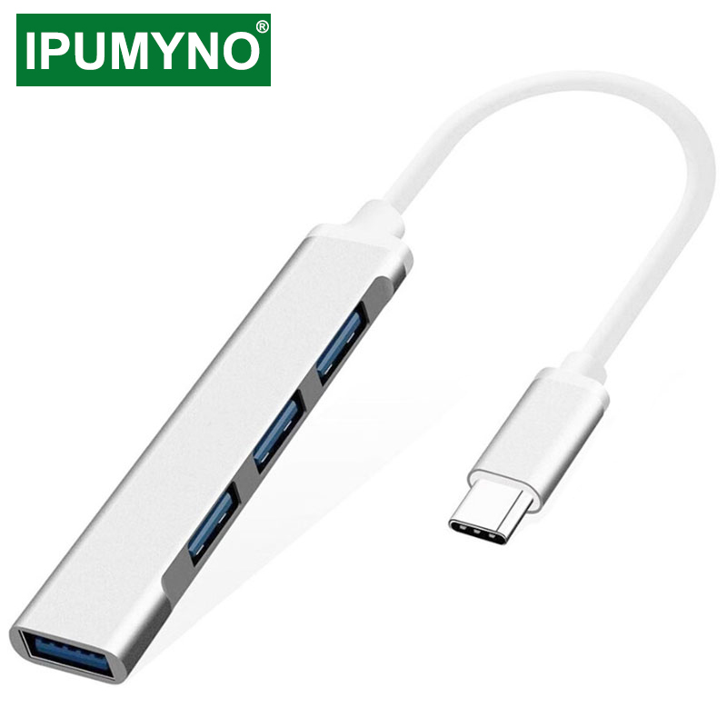Adaptateur multi-séparateur USB/HUB 3.0/3.1/Type C, 4 ports, OTG, pour PC portable, Xiaomi Lenovo Macbook Pro, accessoires pour ordinateur portable