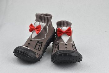 1 Pair Non-slip Floor Girl  Boy Newborn Child Shoes Socks with Rubber Soles Baby Sock  Children Socks Soft BottomFashion Socks 1 pair baby girl socks with bowknot cute baby lace ruffles socks dot newborn baby mesh socks princess girl socks cotton sock