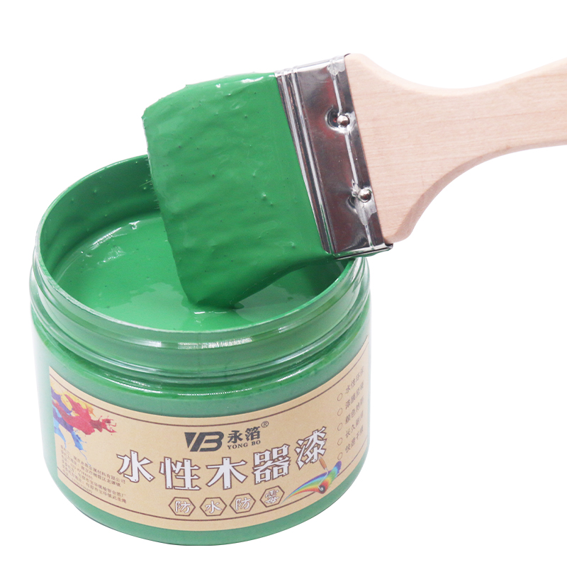 Green Water-based Woodwork Paint,Water-proof&Mildew-proof Lacquer for Wood,Fabric,Paper,Canvas,Hand-painted,250g Craft Paints