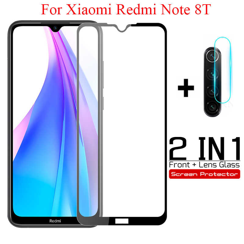 2-in-1 ตัวป้องกันหน้าจอแก้วสำหรับ Xiaomi Redmi 8 หมายเหตุ 8 8T หมายเหตุ 8 Pro สำหรับ Xiaomi Redmi หมายเหตุ 8T เลนส์กล้อง