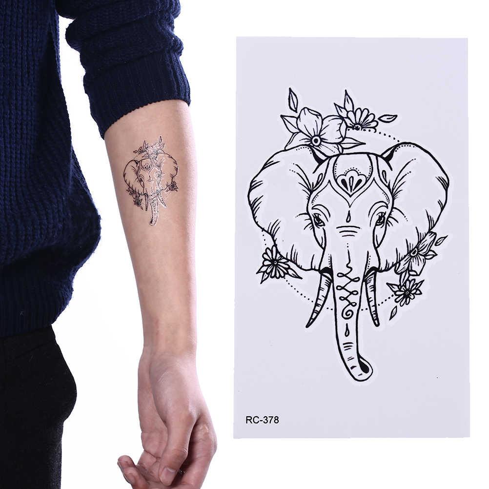24 stil Katze Elch Wolf Temporäre Tattoo Frauen Körper Arm Wasser Transfer Tattoo Männer Make-Up Tatto Aufkleber Armband Deer Tier zoo