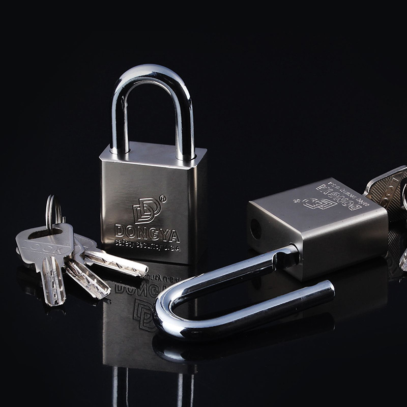Outdoor 40mm- 70mm Padlock Anti-Theft Faux Stainless Steel Waterproof Through Open Padlock Atomic Crescent Padlock