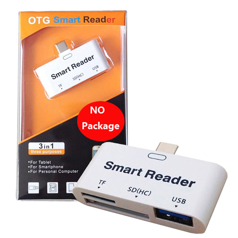 USB Type C SD TF Micro SD SDHC Smart OTG Card Reader for Samsung Galaxy S10 S9 S8 NOTE 8 9 10 For HUAWEI P20 LG G6 Android Phone(China)