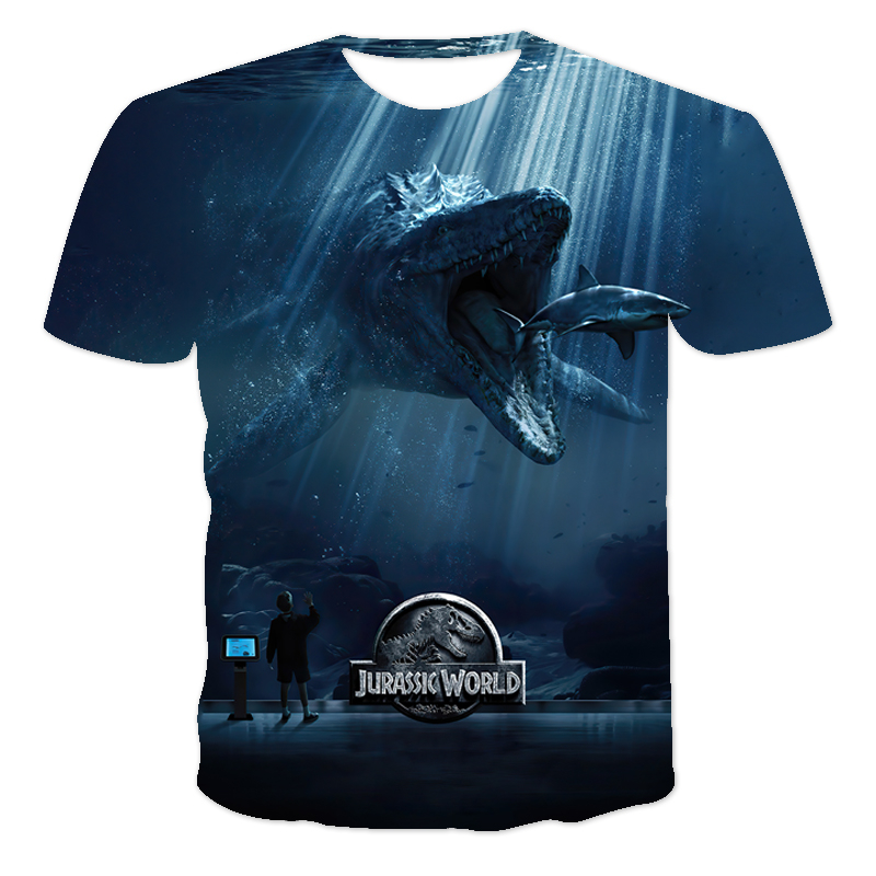 Boys T Shirt Summer 3D Printed Cartoon Dinosaur Realm T Shirt Kids Funny Harajuku Fashion Top Boys & Girls Super Cool T Shirt
