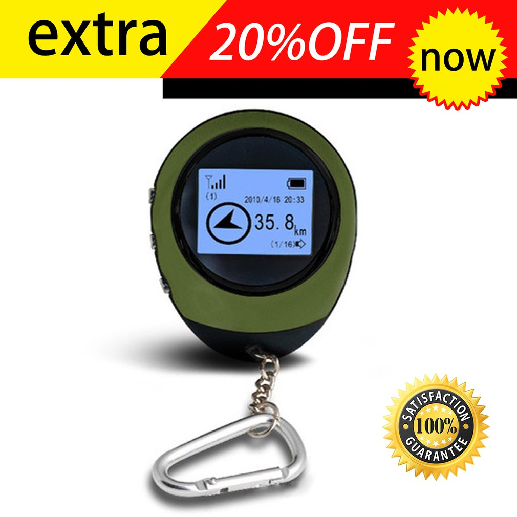 Mini GPS Tracker Tracking Device Travel Portable Keychain Locator Pathfinding Motorcycle Vehicle Sport Handheld Keychain