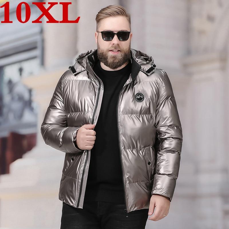 10XL Plus Size  Warm  Winter Jacket Men  Brand Clothing Male Cotton Autumn Coat Quality Parka Men