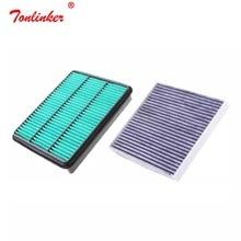 Klima hava filtresi 2 adet set filtresi 17801 50040/30040 87139 50060 Toyota PRADO için 2700 4000 2.7 3.5 4.0 araba aksesuarları