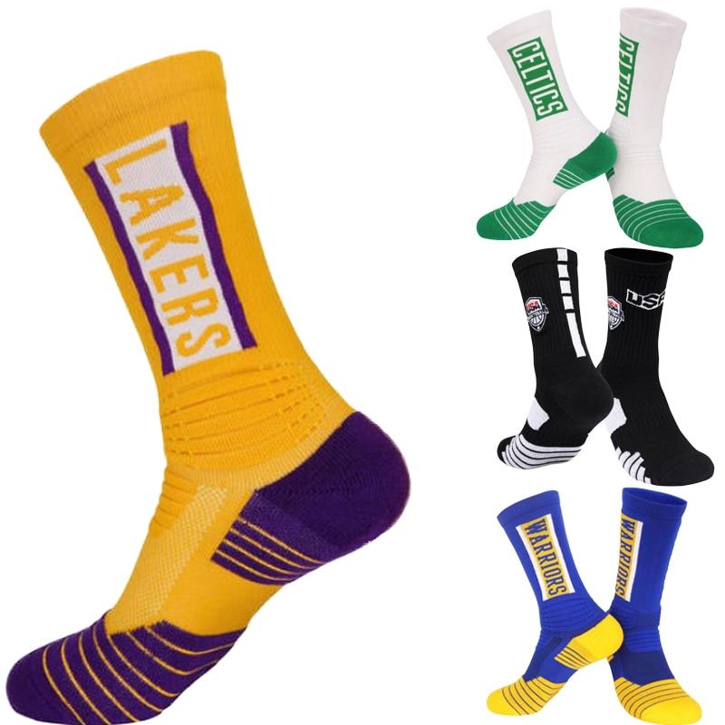 Мужские баскетбольные носки, махровая Подушка, толстые носки для клубов с текстом и логотипом, быстрая доставка