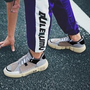 Image 4 - COOLVFATBO Trendy Sneakers rahat ayakkabılar erkekler marka spor ayakkabı erkekler nefes erkek ayakkabı karışık renkler erkek ayakkabısı yürüyüş erkek düz