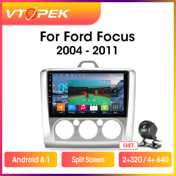 Vtopek 9 4G+WiFi 2din Android 8.1 Auto Radio For Ford Focus Exi MT AT 2004-2011 DSP Car Multimedia Video Player Navigation GPS vtopek android radio multimedia player for toyota prado 2004 2009 land cruiser navigation gps stereo 4g network wifi dsp