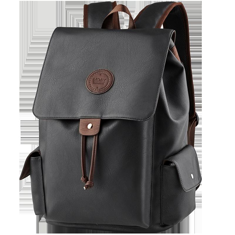 MOYYI PVC Leather Backpack High Quality Fashion School Bag Anti-Theft Waterproof Mochila For 14 Inch Laptop Backpacks