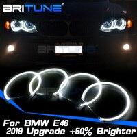 LED Angel Eyes For BMW 3 5 7 Series E46 E39 E38 E36 Xenon Halogen Headlight COB Halo Rings Kit Car Accessories Retrofit Style