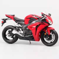 Welly-motocicleta a escala grande Honda CBR 1000RR, vehículos de juguete, Diecast y vehículos deportivos, modelos de moto en miniatura, 1/10