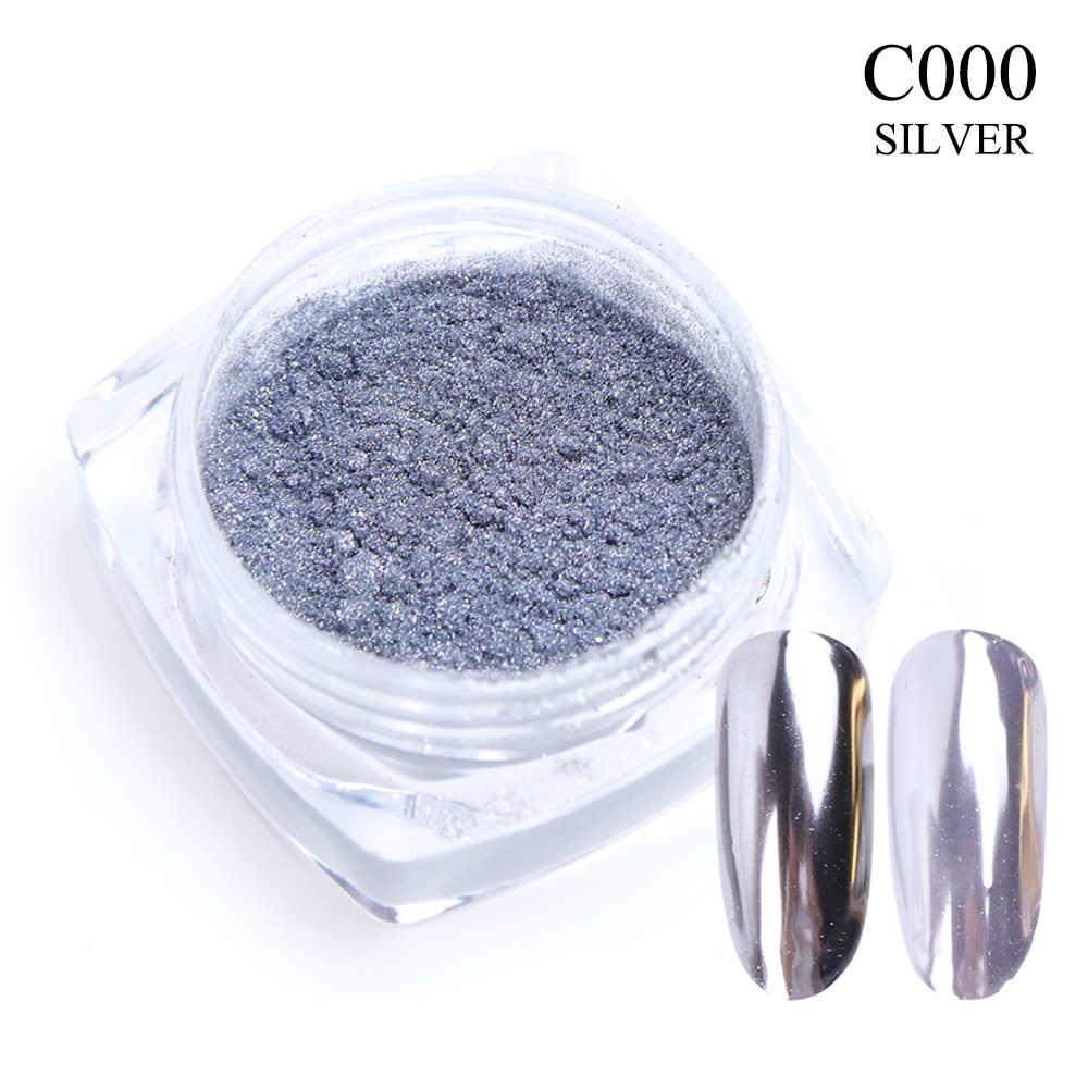 0.5g specchio per unghie Glitter in polvere colore metallico Nail art Gel UV lucidatura cromo scaglie pigmenti decorazioni polvere Manicure TRC/ASX