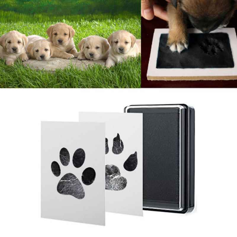 Baby Handabdruck Fußabdrücke Tinte Pads Kits Haustier Katze Hund Pfote Drucken Souvenir Ungiftig