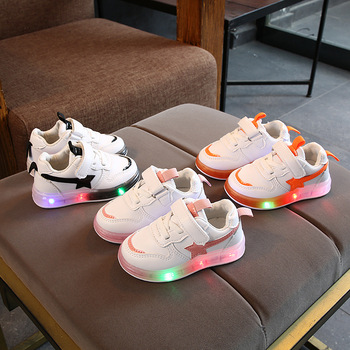 2021 High quality LED Lighting Children Shoes Glowing Fashion Kids Sneakers Cool Hot Sales Baby Girls Boys Toddler Infant Tennis canvas fashion cute lovely shoes children glowing cartoon baby toddlers slip on cool baby girls boys shoes infant tennis