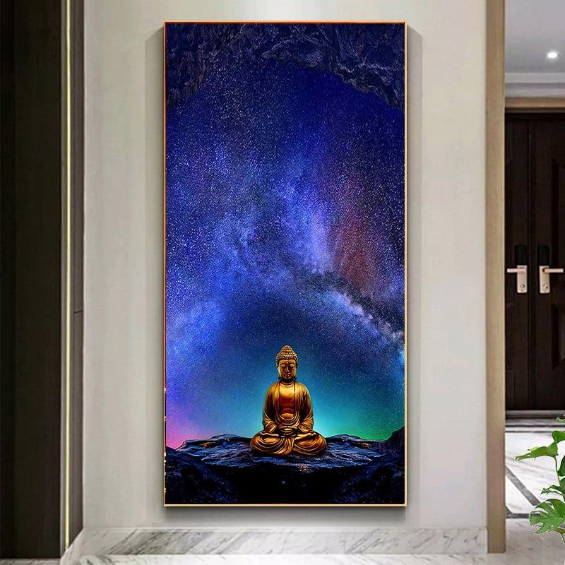 """Impresión de arte de Buda /""""miles de velas../"""" Foto Poster cita Budismo Regalo"""
