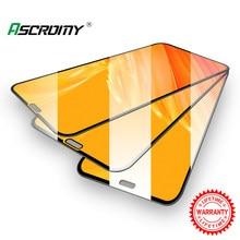 Capa completa de vidro temperado protetor de tela para iphone xr x xs max 8 plus 7 6s 11 pro 12 película proteção protetora verre tremp