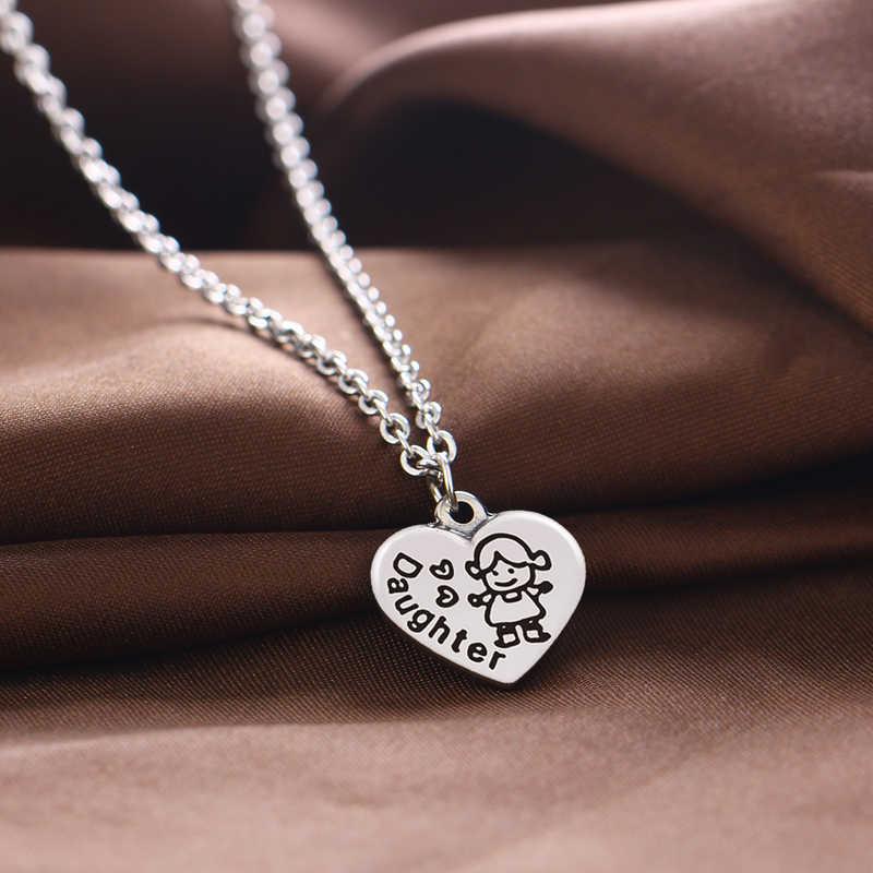 12 шт. Семейные ожерелья сердце подвески с шармами, ожерелья папочка мама подготовка к день рождения дочери Рождественский подарок ювелирные изделия горячая распродажа