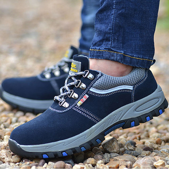 2019 Fashion Autumn Steel Toe Work Shoes for Men Puncture Proof Safety Shoes Man Breathable Light Industrial Male Casual Shoes
