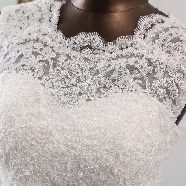 New Applique wedding dress formal robe mariage Vestidos de Novia bridal dress vestido de festa Beach wedding dresses 6