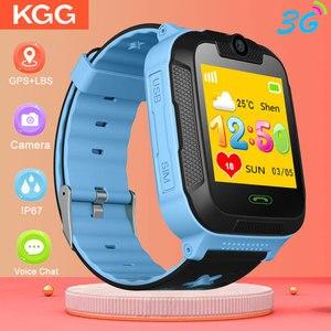 Image 1 - D1 3 グラム gps トラッカースマート子供腕時計キッズベビー gps wifi トラッカー sos スマートウォッチ子供のスマートウォッチ vs Q50 Q90
