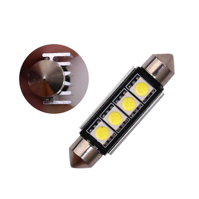 8 Buah Kualitas Tinggi Memperhiasi 5050 4SMD 41 Mm Bohlam LED C5W C10W Super Terang CANBUS Auto Interior Lampu Dome mobil Styling Lampu