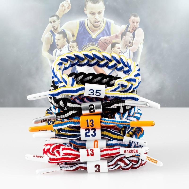 Sports Bracelet Fashion TrendNBABasketball Star James Kobe Alphabet Goo Library Sports Lace Bracelet