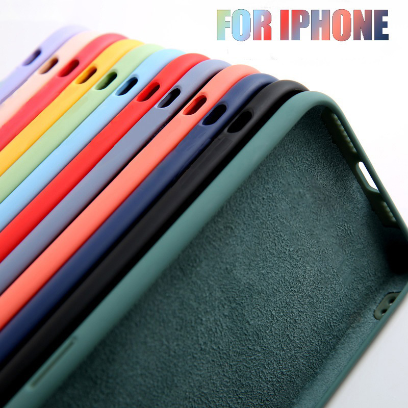 <font><b>Original</b></font> Liquid Silicone Luxury <font><b>Case</b></font> For Apple <font><b>iPhone</b></font> 11 Pro Max 7 8 6 6S Plus XR <font><b>X</b></font> <font><b>XS</b></font> MAX 5 5S SE 2 Back Cover Shockproof <font><b>Case</b></font> image