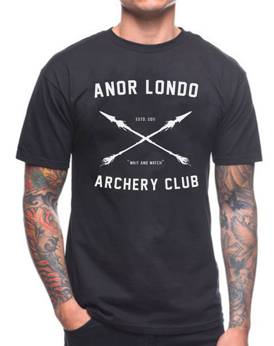Anor Londo Archery Club T Shirt Dark Souls Xbox Game Gamer Birthday Present Loose Size Top Tee Shirt image