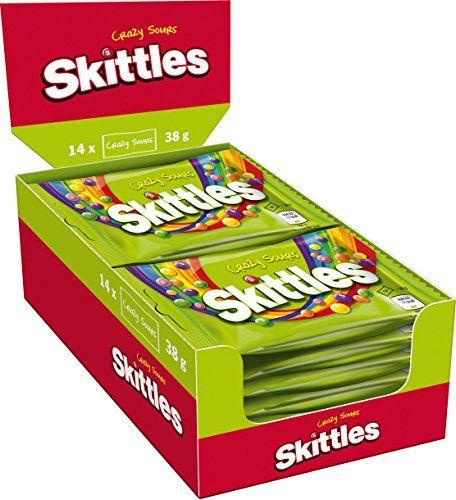 Skittles Jeux De Quilles Fou Sours Sweets Aspro-Fruité Lot De 14 Sacs X38g (paquet De 14)