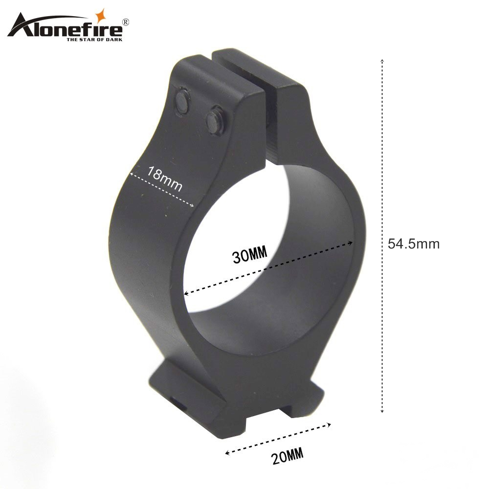 AloneFire 30# 30mm Scope Ring Weaver Picatinny Rail Scope Mount 21mm Scope Bases Extreme Airsoft Rifle Hunting Accessories
