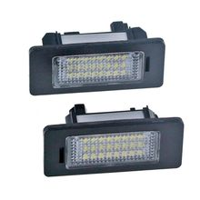 цена на 12v 2PCS 24 LED 3528 SMD LED License Plate Lights Lamps Bulbs 6000K Cool White Fit For BMW E82 E90 E92 E93 M3 E39 E60 E70 X5