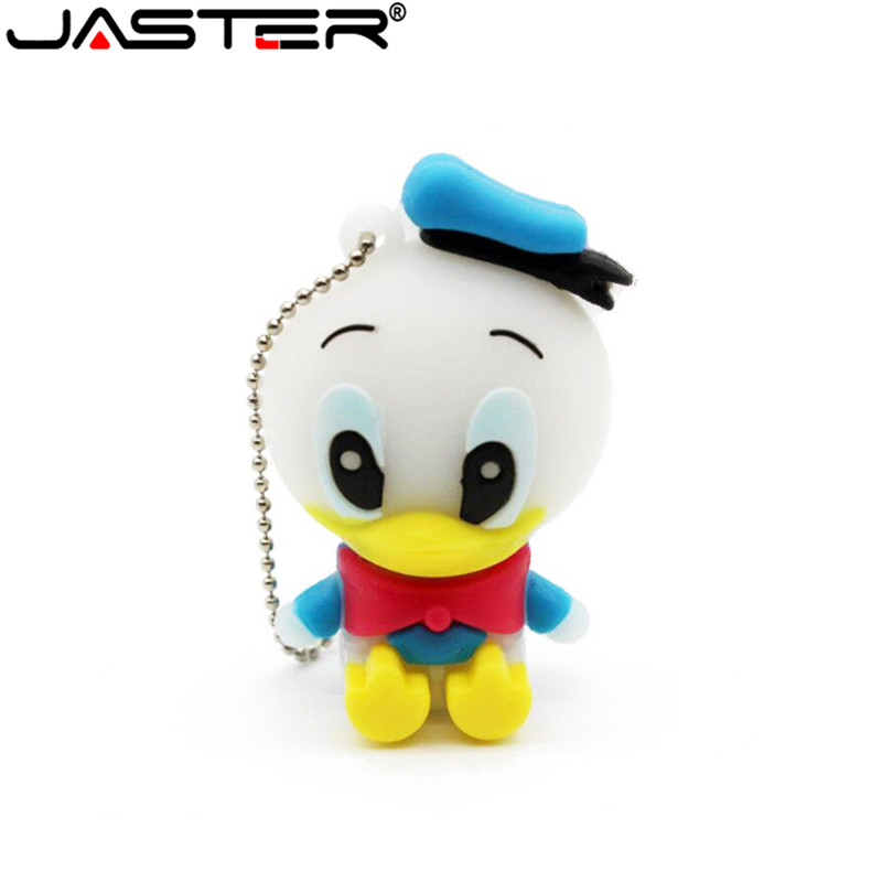 JASTER Pen Drive Cartoon Donald Duck USB Flash Drive Cute Gift Animal 4GB 8GB 16GB 32GB 64GB 128GB Memory Disk