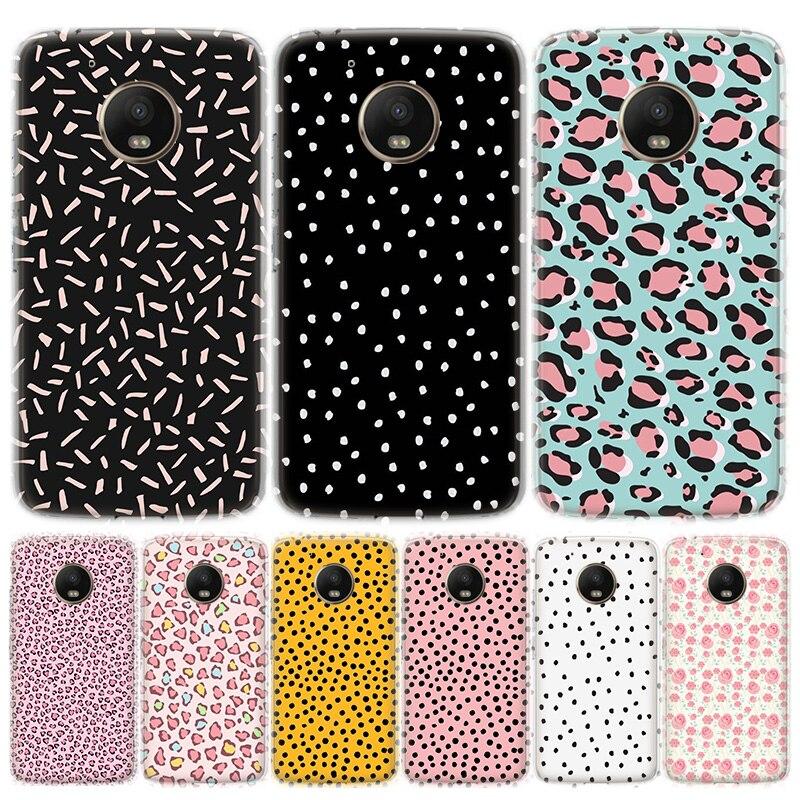 Creative Design Polka Dot Phone Case For MOTO Motorola G8 E4 E5 E6 G7 G6 G5S Plus Play Power ONE Action Cover Coque Soft Silicon