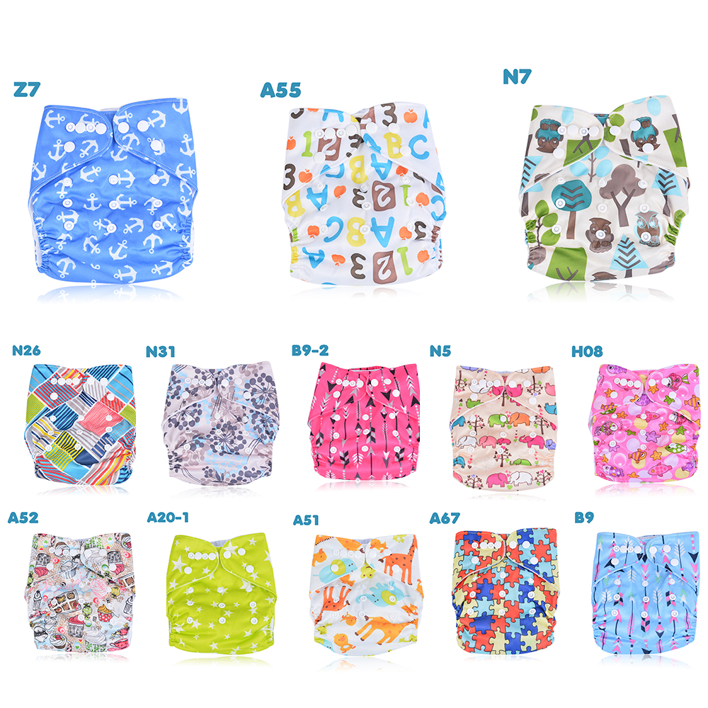 CYSINCOS Baby Washable Reusable Real Cloth Pocket Nappy Diaper Cover Wrap Suits Birth To Potty One Size Nappy