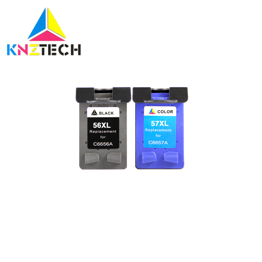 56XL 57XL Refilled Ink <font><b>cartridge</b></font> Replacement for 56 57 for hp56 hp57 Deskjet 450CI <font><b>5550</b></font> 5552 7150 7350 7000 2100 220 Printer image