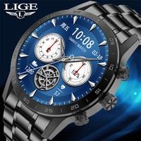 LIGE-reloj inteligente para hombre, accesorio de pulsera resistente al agua IP68 con llamadas, Bluetooth, control del ritmo cardíaco, compatible con teléfonos IOS y Android, novedad de 2021
