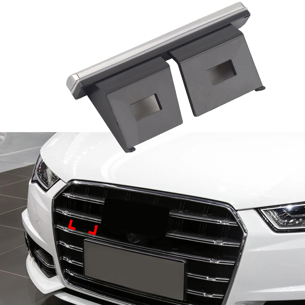 1-50 Pcs For Quattro Letters Logo Emblem Car Grill Trim Cover Car Tuning For Audi A1 A2 A3 A4 A5 A6 A7 A8 B5 B6 B7 B8 Accessorie