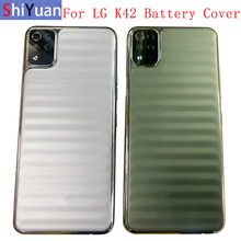 Battery Cover Rear Door Housing Back Case For LG K42 LMK420 K52 Brazil Battery Cover with Middle Frame Logo Replacement Repair