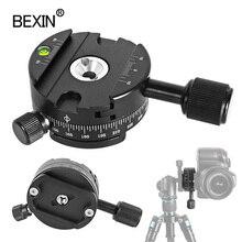 Câmera de liberação rápida braçadeira 360 graus girar montagem braçadeira dslr placa base adaptador para tripé bola cabeça arca swiss braçadeira