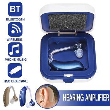 Bluetooth BTE akumulatorowe aparaty słuchowe cyfrowe aparaty słuchowe dla osób w podeszłym wieku Audifono wzmacniacz słuchu regulowany aparat słuchowy tanie i dobre opinie SEKADAO Chin kontynentalnych