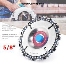 22 зуба по дереву цепная дробилка Угловые пилы диск резьба по дереву диск цепная пластина инструмент(фиолетовый