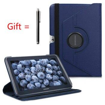 עסקי עור מפוצל Stand כיסוי Tablet מקרה עבור סמסונג גלקסי הערה 10.1 N8000 N8010 N8020 (GT-N8000)+ מזג זכוכית ((לא משלוח)