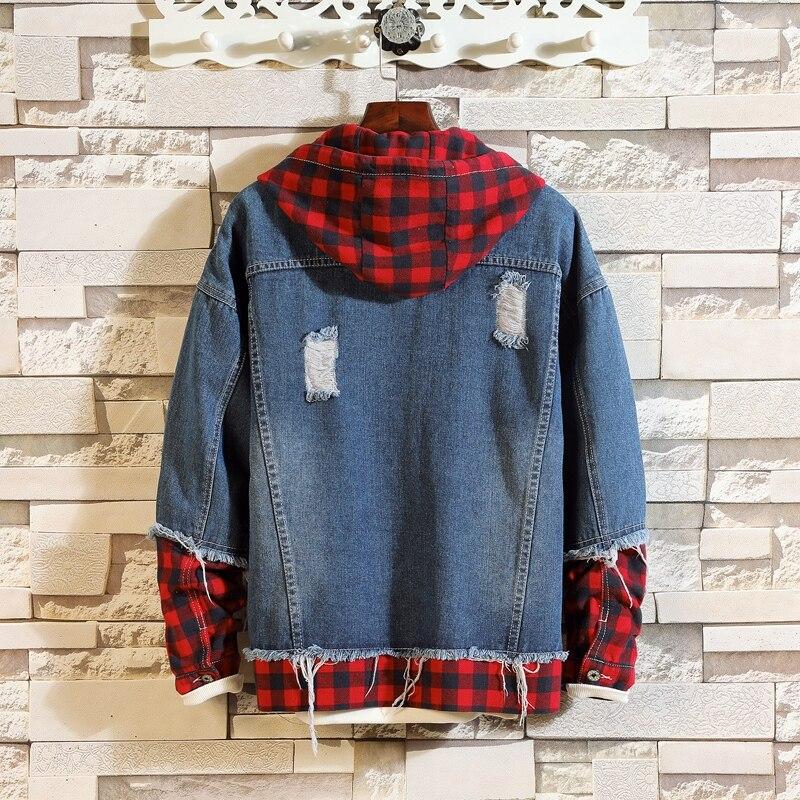 Japan Style 2019 Spring Autumn Men's Fashion Denim Jacket Casual Bomber Jacket Denim Jacket Streetwear Clothes